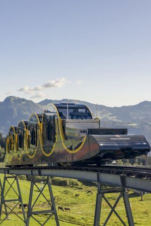Stoos, the world's steepest funicular railway