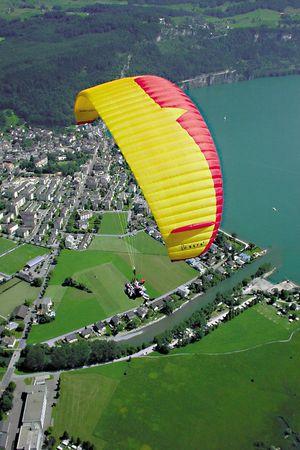 Paraglider tandem flight Urmiberg
