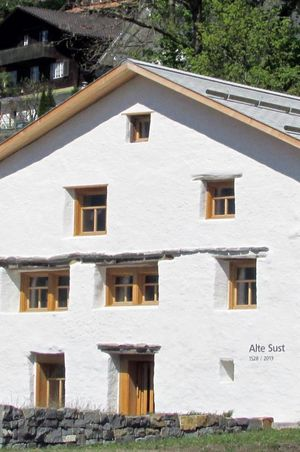 The historic 'Sust' warehouses in Brunnen