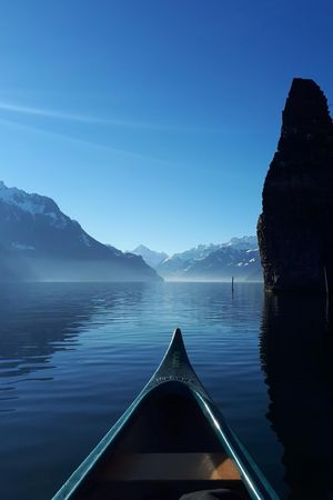 Winter canoe tours on Lake Lucerne